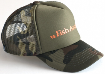 Кепка FISH ARROW Mesh Cap цв. Green Camo/Orange