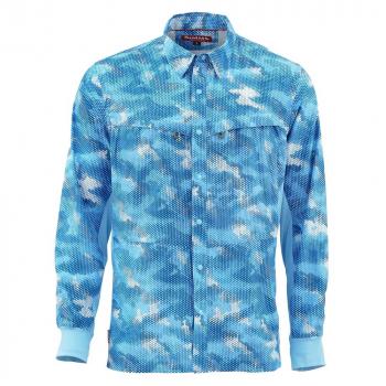 Рубашка SIMMS Intruder BiComp LS Shirt цвет Hex Camo Sky Blue