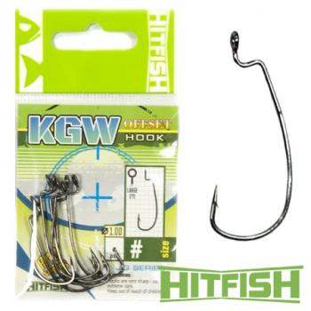 Крючок офсетный HITFISH KGW Offset Hook № 1 (7 шт.) в интернет магазине Rybaki.ru