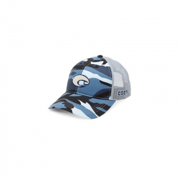 Бейсболка COSTA DEL MAR XL Logo Camo Trucker цв. Blue