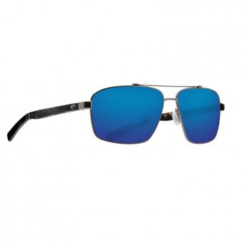 Очки поляризационные COSTA DEL MAR Flagler 580G р. L цв. Brushed Gunmetal цв. ст. Blue Mirror