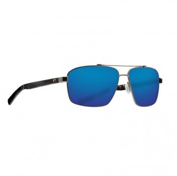 Очки поляризационные COSTA DEL MAR Flagler 580P р. L цв. Brushed Gunmetal цв. ст. Blue Mirror
