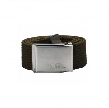 Ремень FJALLRAVEN Canvas Belt цвет Dark Olive