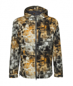 Куртка FHM Pharos цвет Серо-оранженвый принт