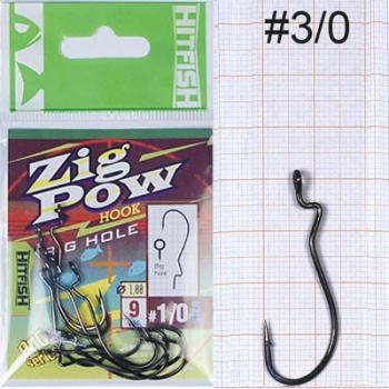 Крючок офсетный HITFISH Zigpow № 1/0 (9 шт.) в интернет магазине Rybaki.ru