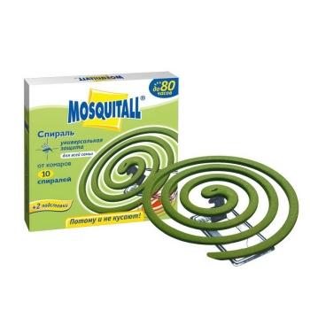 Спирали MOSQUITALL Универсальная защита от комаров 10 шт. в интернет магазине Rybaki.ru