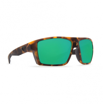 Очки поляризационные COSTA DEL MAR Bloke W580 р. XL цв. Matte Retro Tortoise + Matte Black цв. ст. Green Mirror Glass