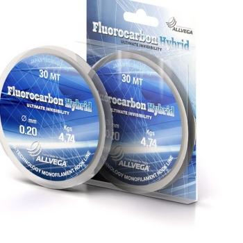 Флюорокарбон ALLVEGA Fluorocarbon Hybrid 0,09 мм 30 м 0,98 кг в интернет магазине Rybaki.ru