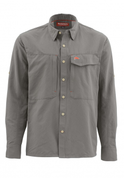 Рубашка SIMMS Guide LS Shirt - Solid цвет Pewter
