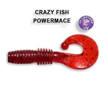 """Твистер CRAZY FISH Power Mace 1,6"""" (8 шт.) зап. анис, код цв. 11"""