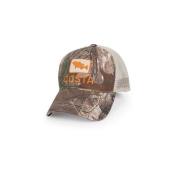 Бейсболка COSTA Bass Trucker Hat цв. Real Tree Camo / Stone