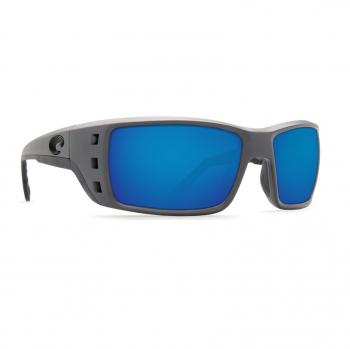 Очки поляризационные COSTA DEL MAR Permit 580P р. XL цв. Matte Gray цв. ст. Blue Mirror