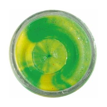 Паста форелевая BERKLEY PowerBait Extra Scent Glitter TroutBait цв. флюоресцентный зеленый/ оранжевый в интернет магазине Rybaki.ru