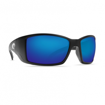 Очки поляризационные COSTA DEL MAR Blackfin 580P р. L цв. Matte Black Global Fit цв. ст. Blue Mirror