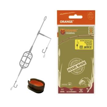 Оснастка карповая ORANGE #42 1 Classic Flat Method Leadcore + Mould 40 г в интернет магазине Rybaki.ru