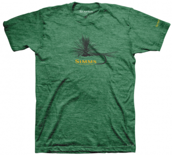 Футболка SIMMS Adams Fly T-Shirt цвет Kelly Heather