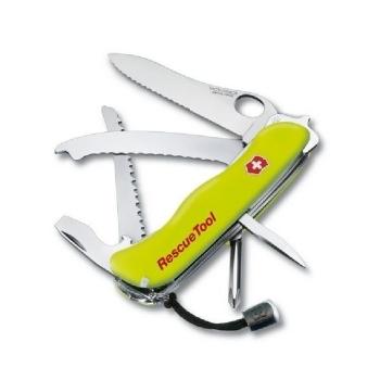 Нож VICTORINOX RescueTool One Hand салатовый 12 функций 111 мм карт.коробка