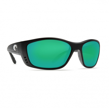 Очки поляризационные COSTA DEL MAR Fisch 580P р. XL цв. Matte Black Global Fit цв. ст. Green Mirror