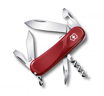 Нож VICTORINOX Evolution S101 красный 12 функций 85 мм карт.коробка