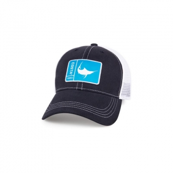 Бейсболка COSTA DEL MAR Original Patch Marlin цв. Hevy / White