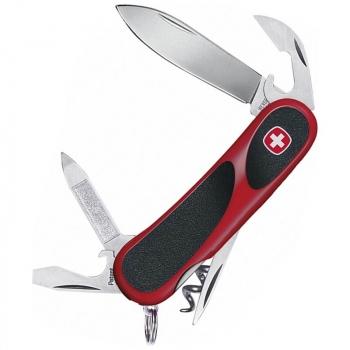 Нож VICTORINOX Evolution 10 р. 85 мм, 13 функций, цв. красный с чёрными вставками
