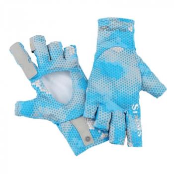 Перчатки SIMMS Solarflex Sunglove цвет Hex Camo Capri
