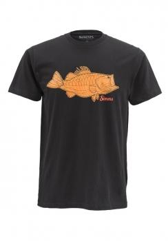 Футболка SIMMS Tightlines Bass SS T-Shirt цвет Black