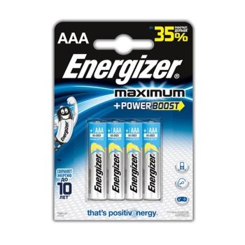 Батарейка ENERGIZER Maximum AAA в бл. 4 в интернет магазине Rybaki.ru