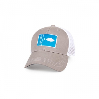Бейсболка COSTA DEL MAR Original Patch Tuna цв. Gray / White
