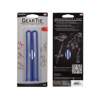 """Стяжки гибкие NITE IZE Gear Tie 12"""" цв. синий (2 шт.)"""