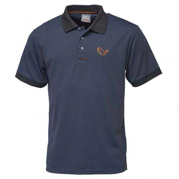 Рубашка-поло SAVAGE GEAR Simply Savage 3-Stripes Polo цвет синий