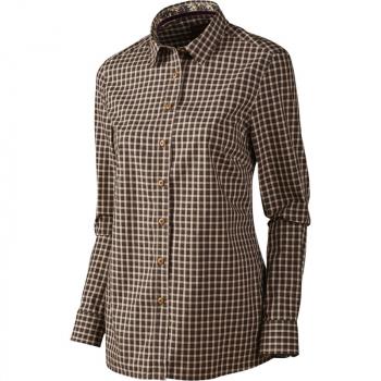 Рубашка HARKILA Selja Lady LS Check Shirt цвет Bright Port Check