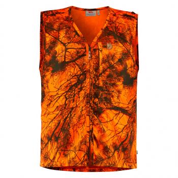 Жилет FJALLRAVEN Varmland Vest цвет Orange Camo в интернет магазине Rybaki.ru