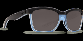 Очки поляризационные COSTA DEL MAR Anaa 580P р. M цв. Shiny Black/Crystal/Lt Blue цв. ст. Gray