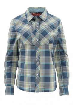 Рубашка SIMMS WS Big Sky LS Shirt цвет Dark Moon Plaid