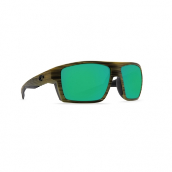 Очки поляризационные COSTA DEL MAR Bloke 580P р. XL цв. Matte Verde Teak + Black цв. ст. Green Mirror