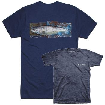 Футболка SIMMS DeYoung Seatrout T-Shirt цвет Navy Heather