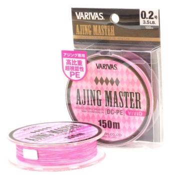Плетенка VARIVAS Ajing Master DC-PE Vivid 150 м цв. Розовый/белый # 0,2 в интернет магазине Rybaki.ru