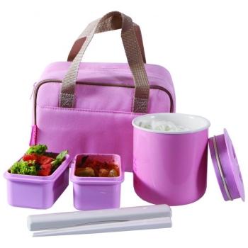 Ланч-набор TIGER LWY-F036 Pink (контейнеры 0,36 л, 2 х 0,21 л) в интернет магазине Rybaki.ru