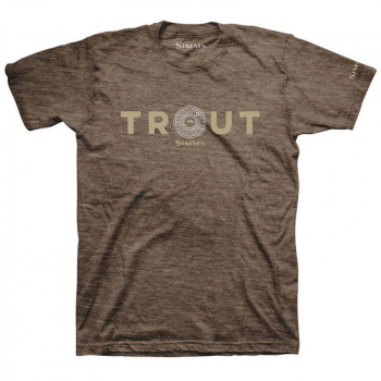 Футболка SIMMS Reel Trout T-Shirt цвет Brown Heather