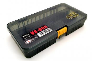 Коробка MEIHO Versus Worm Type VS-806 р. W-L цв. черный прозрачный в интернет магазине Rybaki.ru