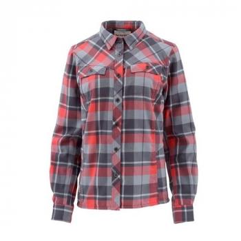 Рубашка SIMMS Women's Wool Blend Flannel цвет Blossom Plaid