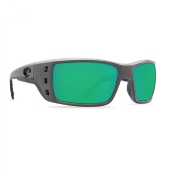 Очки поляризационные COSTA DEL MAR Permit W580 р. XL цв. Matte Gray цв. ст. Green Mirror Glass