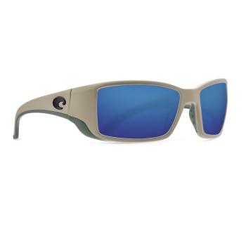Очки поляризационные COSTA DEL MAR Blackfin 580G р. L цв. Sand цв. ст. Blue Mirror
