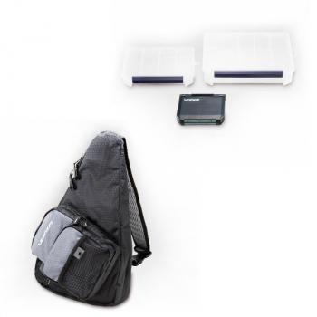 Комплект MEIHO Сумка-рюкзак Versus VS-B6069 цв. черный / серый с коробками Versus VS-3010NDM, Versus VS-3020NDDM, Versus VS-388SD в интернет магазине Rybaki.ru