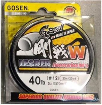 Флюорокарбон GOSEN Fluoro Carbon 100% W Leader 30 м № 18 в интернет магазине Rybaki.ru