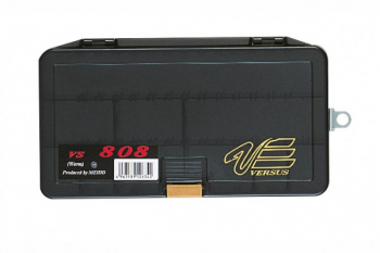 Коробка MEIHO Versus Worm Type VS-808 р. W-LL цв. черный прозрачный в интернет магазине Rybaki.ru