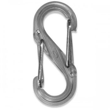 Карабин пластиковый NITE IZE S-Biner, р. 4, прозрачный серый