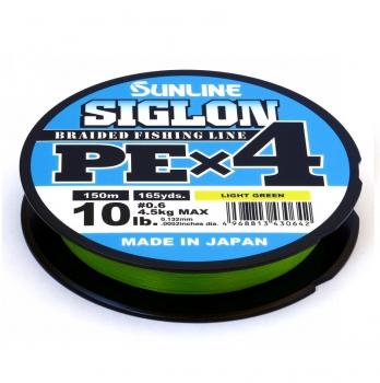 Плетенка SUNLINE Siglon PEx4 150 м цв. светло-зеленый 0,094 мм в интернет магазине Rybaki.ru