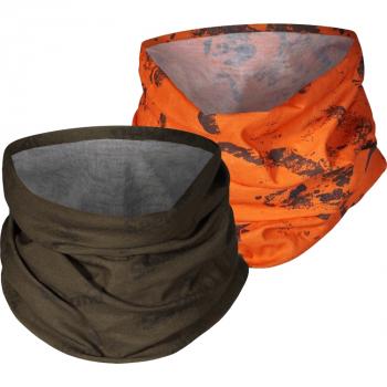 Повязка SEELAND Neck gaiter 2-pack цв. Pine green / InVis orange blaze